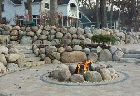 natural fire pit in lake zurich il