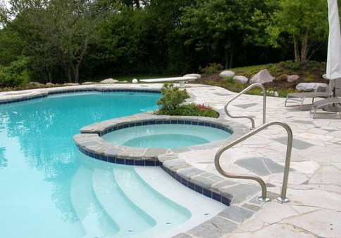 pool landscaping lake zurich il